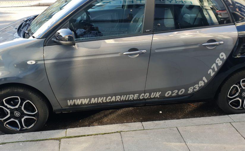 SMART CAR HIRE RENTAL LONDON